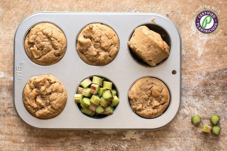 Vegan Rhubarb Muffins [Gluten-Free]
