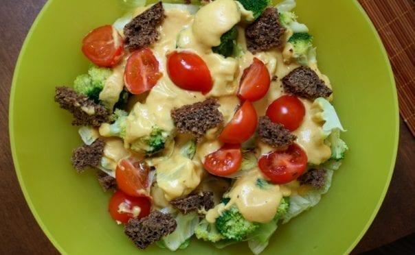 recipe, dressing, sauce, lunch, dinner, beans, cashews, mustard, turmeric, nutritional yeast, gluten-free, casein-free, lactose-free, oil-free, sugar-free, vegan, plant-based, soy-free