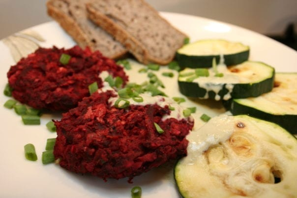 Beetroot-Chickpea Patties