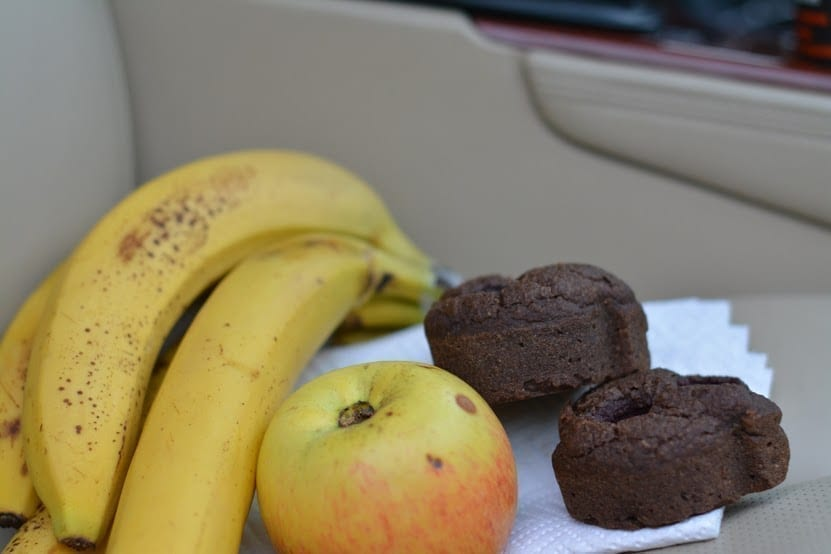 Bananas, Apples, Chocolate Muffins