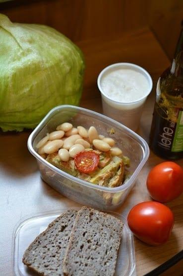 Potato-Leek Quiche, Buckwheat Bread, Iceberg, Tomatoes