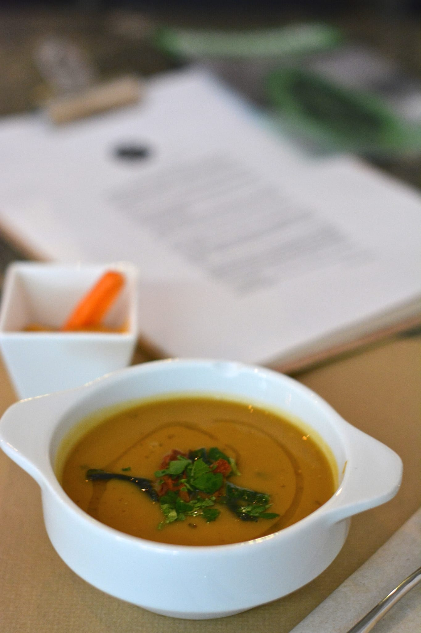 Chestnut Soup with Garlic