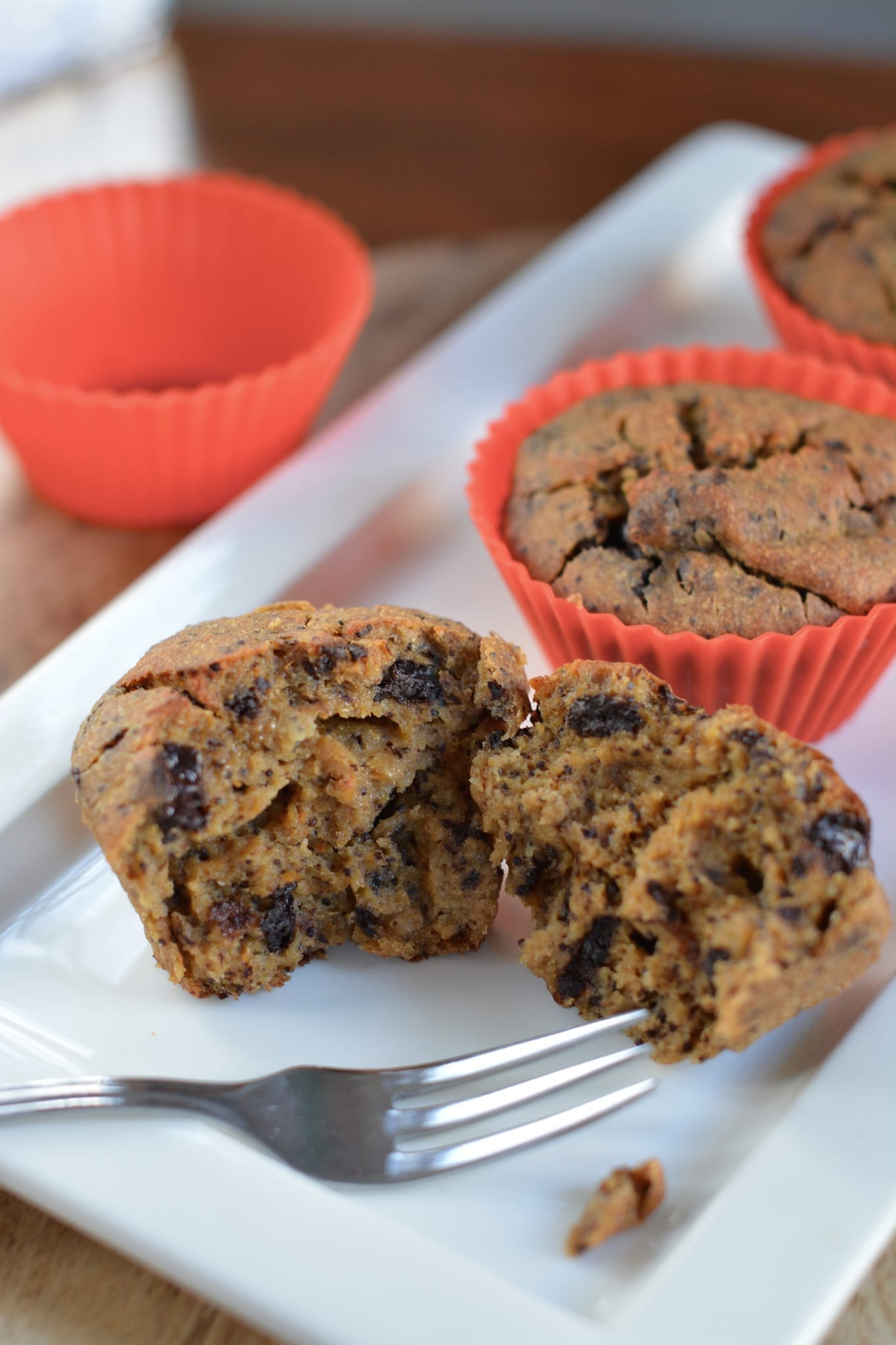 Poppy Seed Muffins with Chocolate Buttons