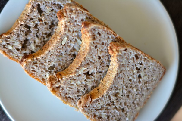 Fermented Buckwheat Bread with Oregano and Sunflower Seeds