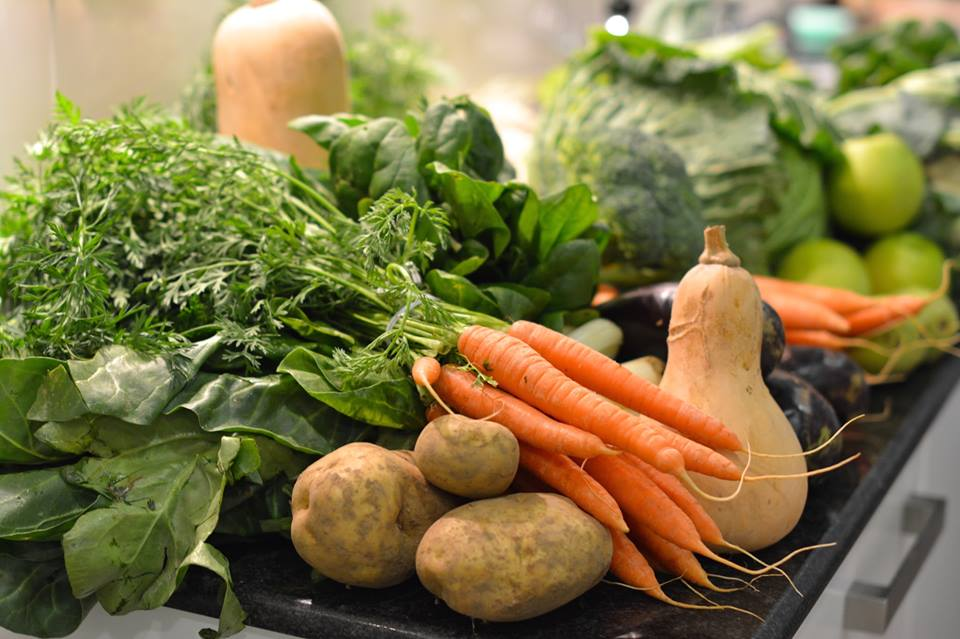 Fresh Vegetables on a Kitchen Counter