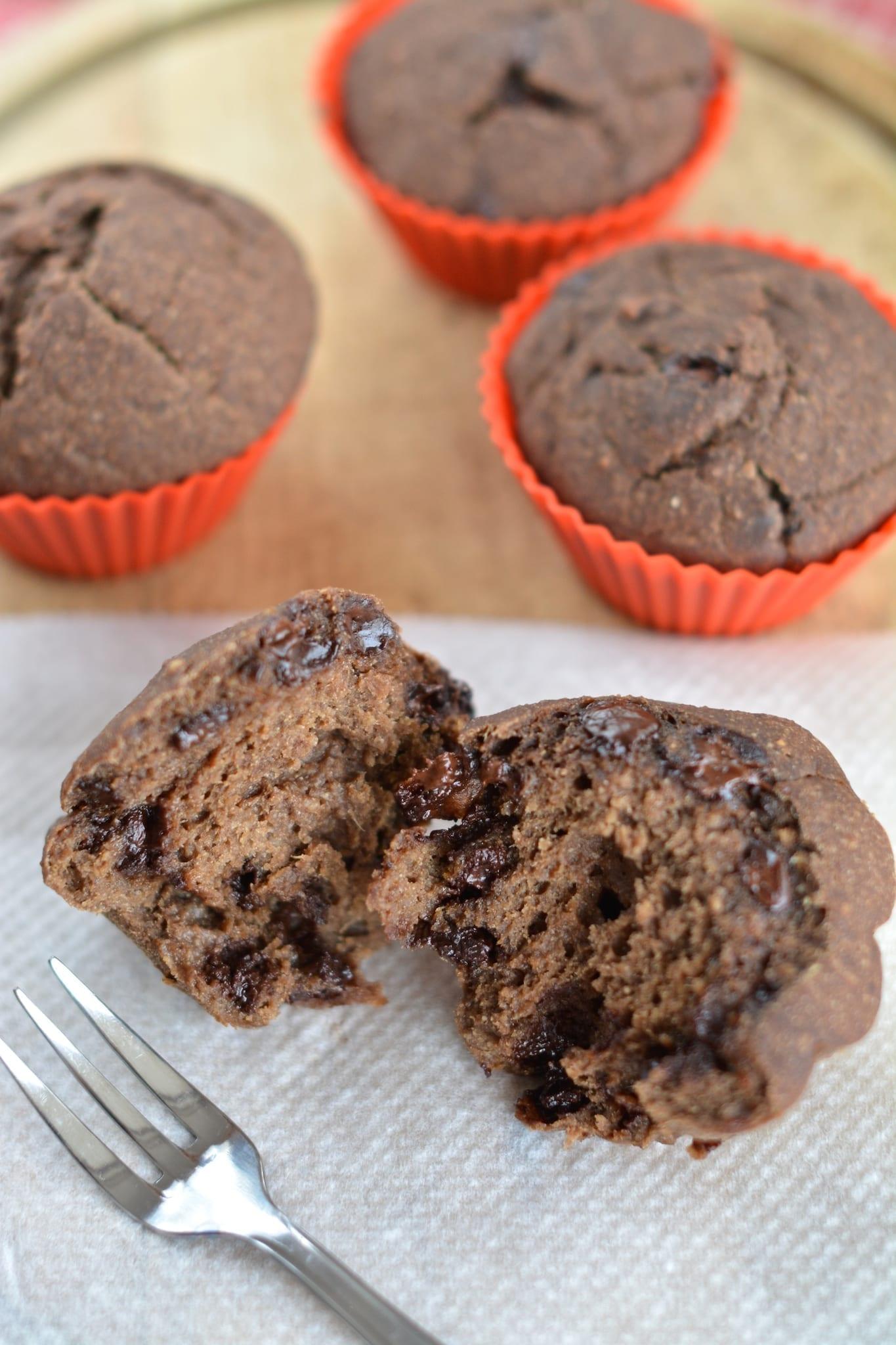 Banana-Mango-Chocolate Muffins, Date-Free and Sugar-Free