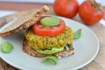 Chickpea-Summer Squash Veggie Burger