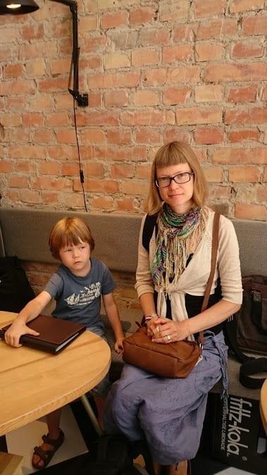 Stragan Kawiarnia waiting for coffee
