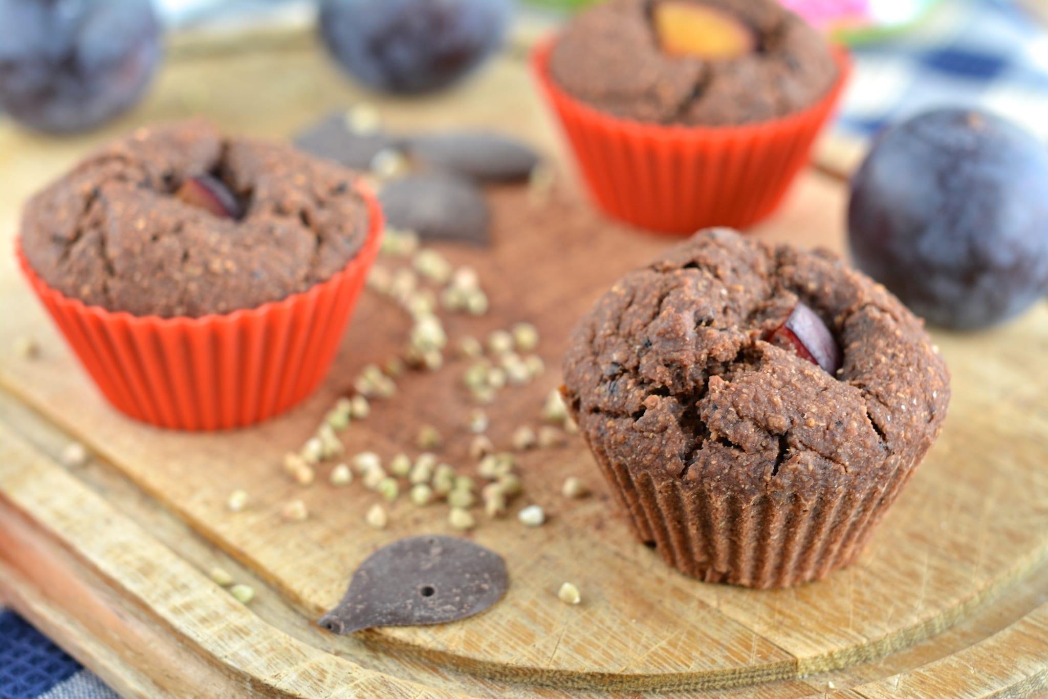 Chocolaty Plum Muffins