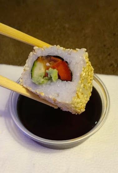 Vegan sushi at Sushi Way in Kaunas