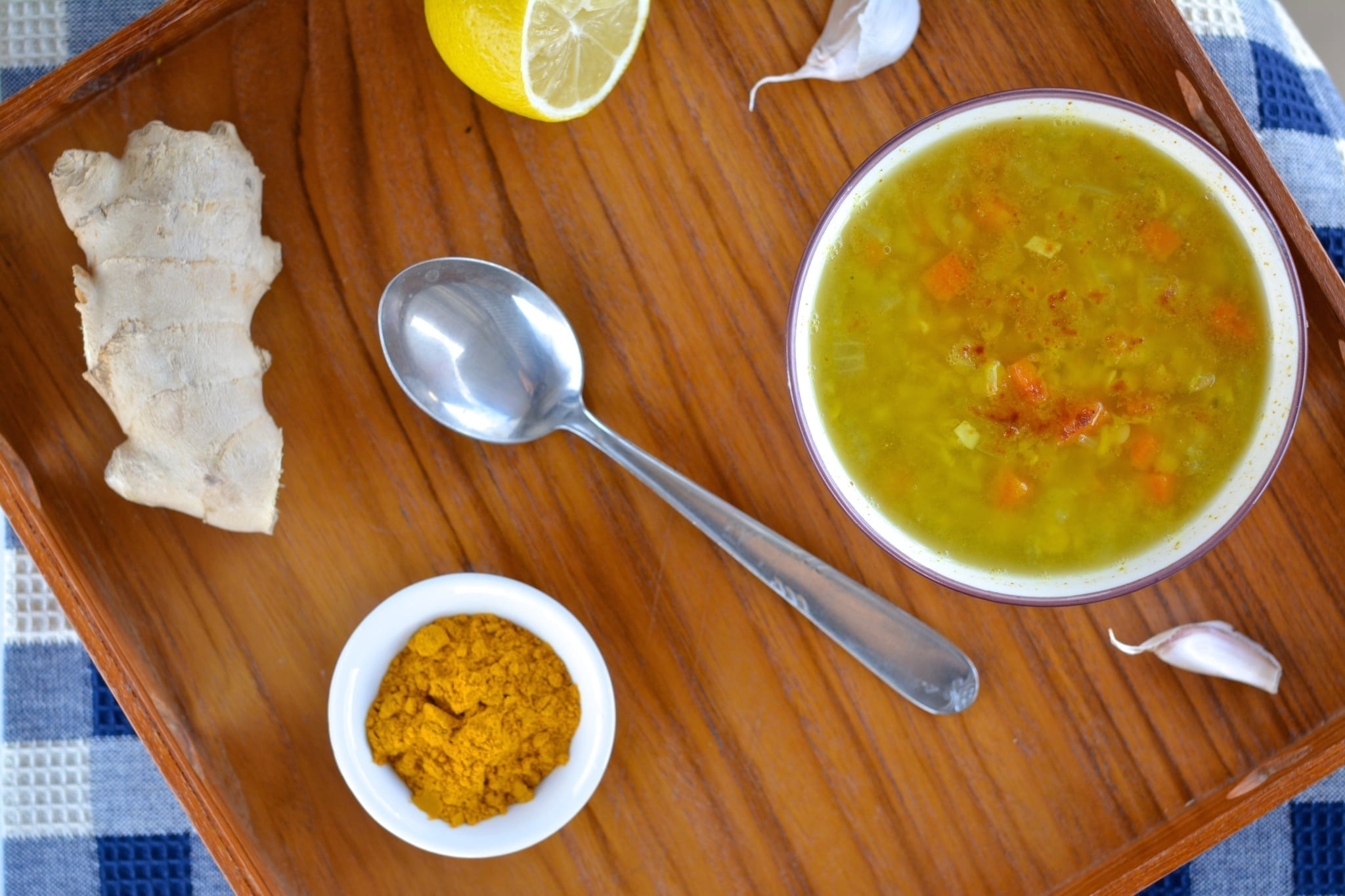 Ginger-Lentil Soup with Turmeric