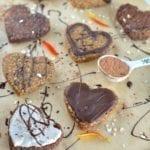 Oat-Banana-Chocolate Cookies with Cream Coating