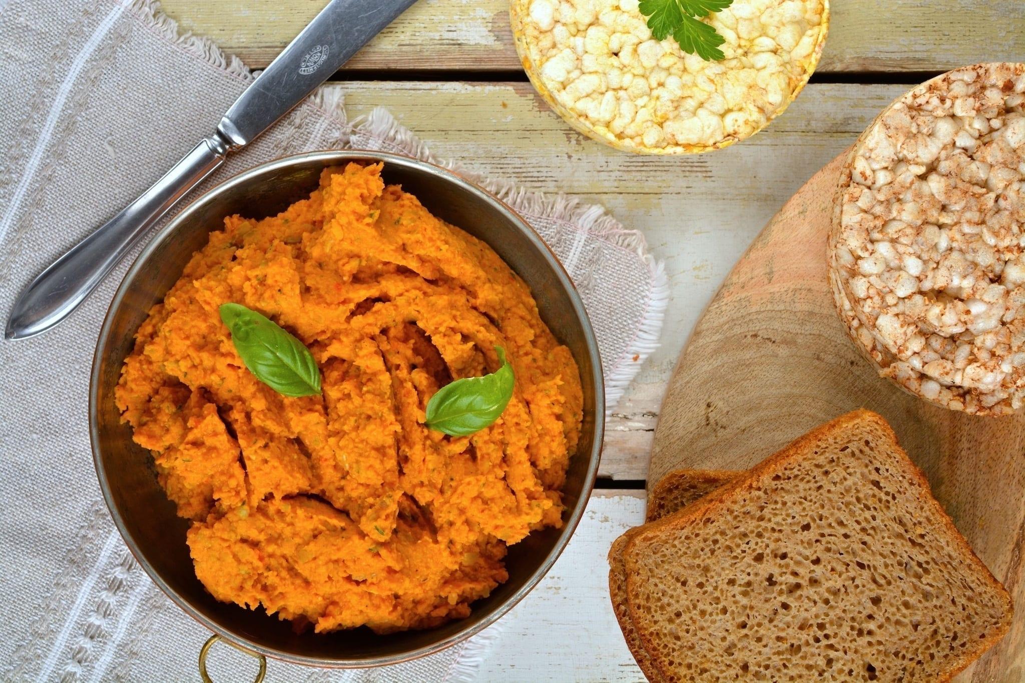 Hummus, Chickpea-Potato-Bell Pepper, Oil-Free