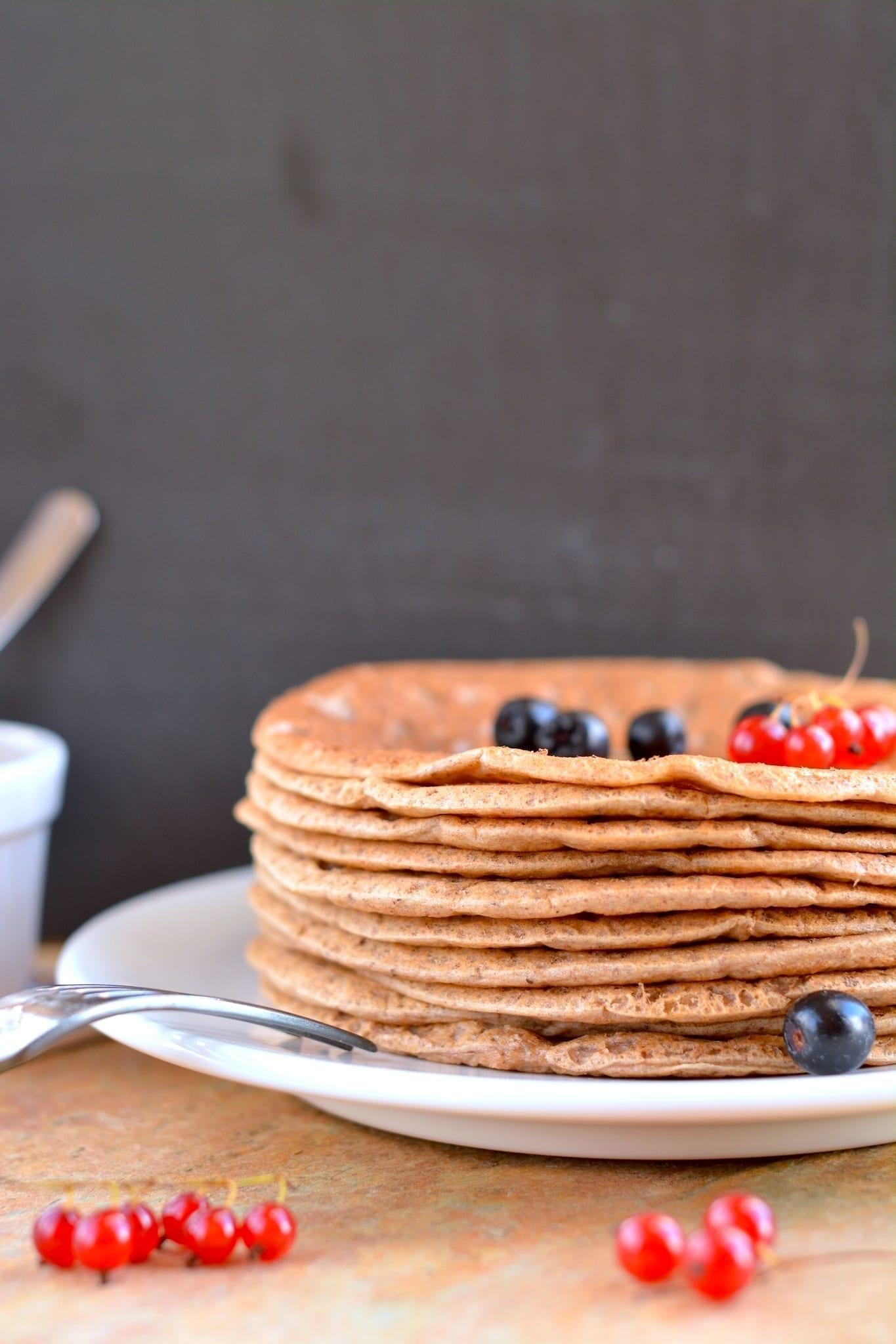 Pancakes, Oat Bran-Buckwheat, Candida Fighting