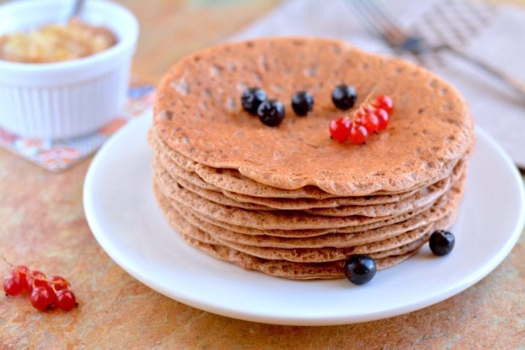 Pancakes, Oat Bran-Buckwheat, Candida Fighting, vegan candida diet meal plans