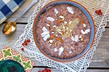 Porridge, Oat Bran-Buckwheat-Carrot, vegan candida diet meal plans