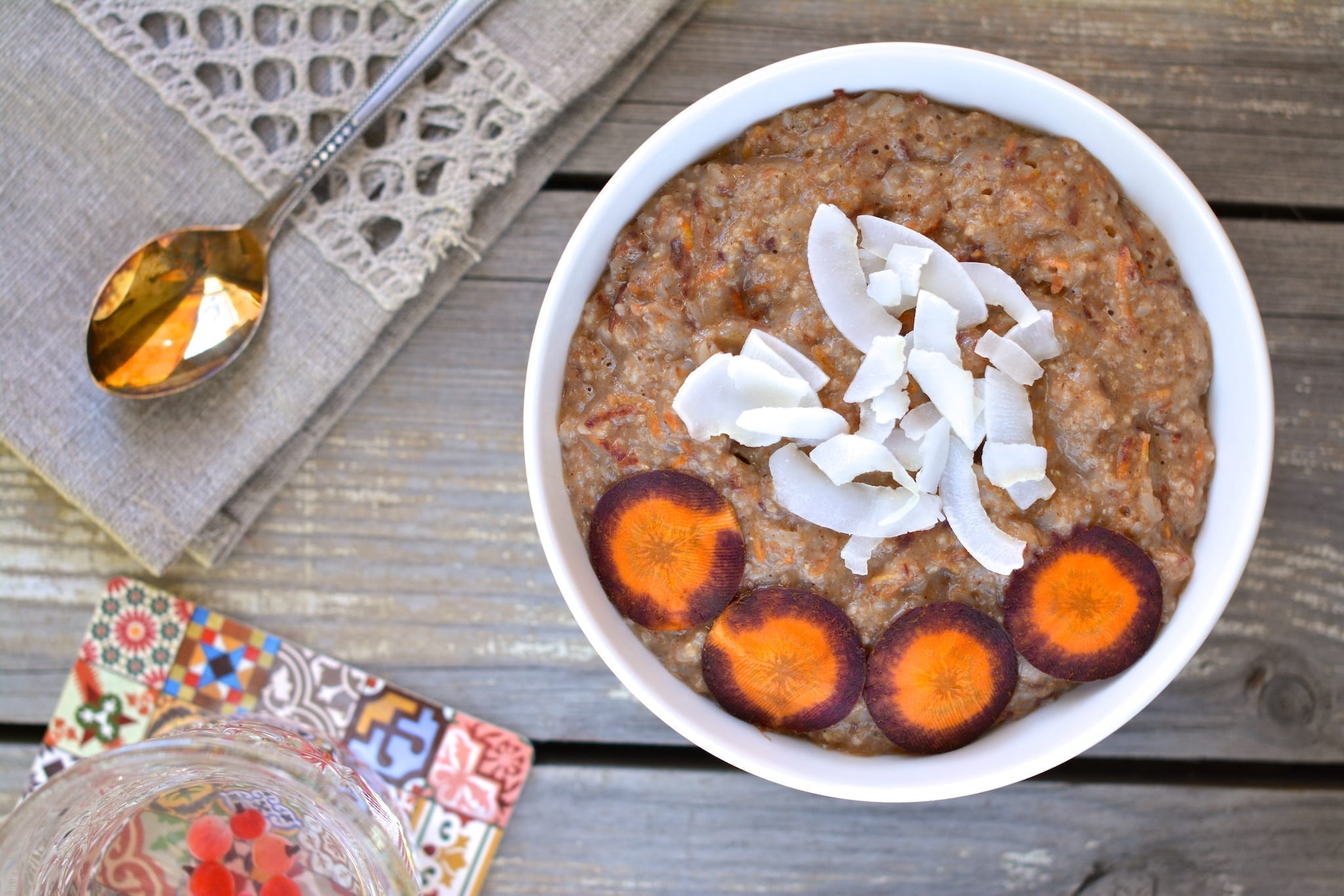 Porridge, Oat Bran-Buckwheat-Carrot, vegan candida diet meal plans