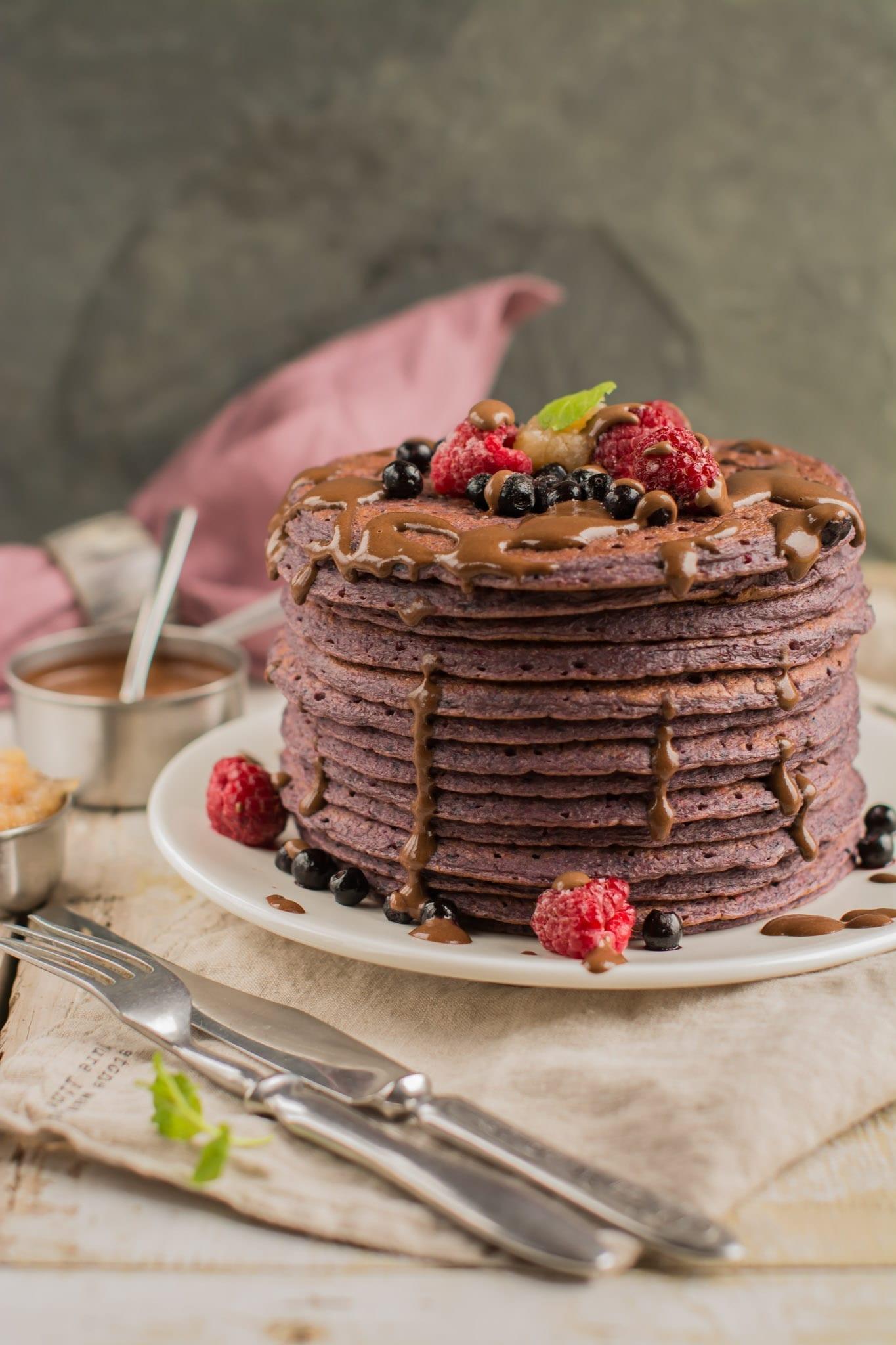 pancakes-blueberry-beet