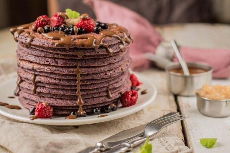 blueberry beet pancakes vegan candida diet recipes