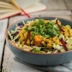 Salad with Chickpea Dhal