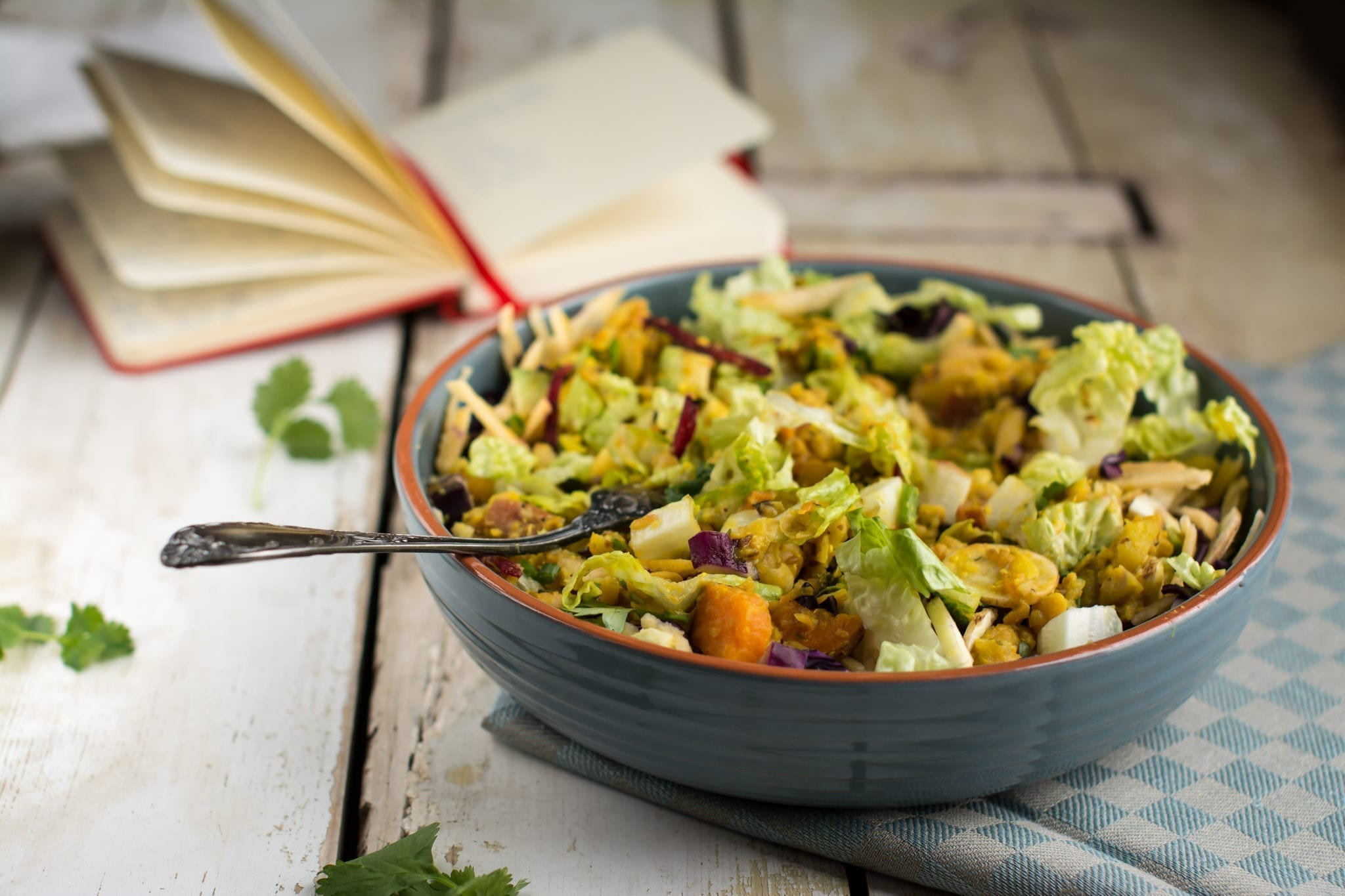 Salad with Chickpea Dhal, candida diet recipes