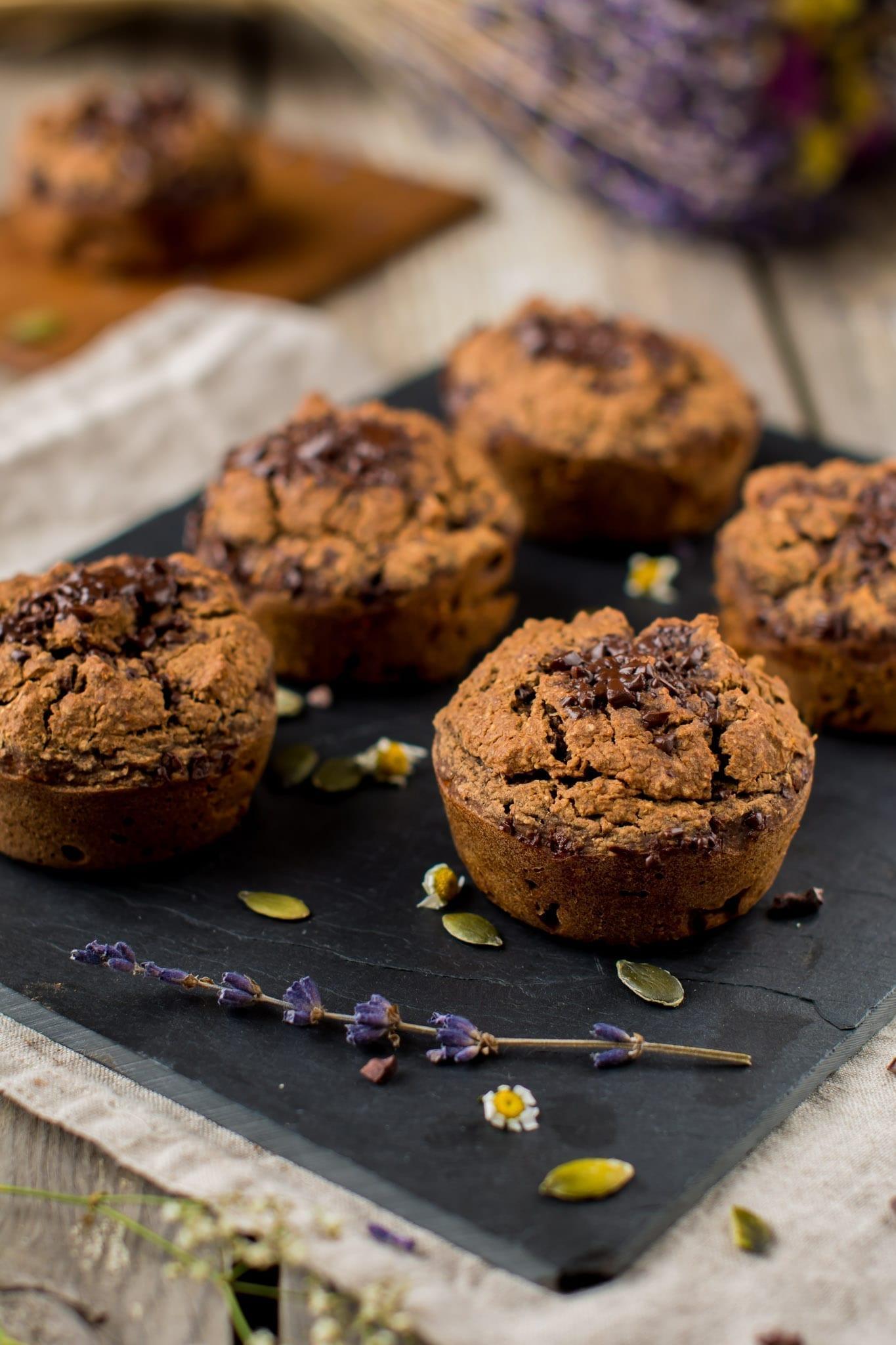 Chocolaty Sweet Potato Muffins, Vegan