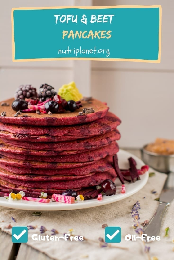 Vegan Gluten-Free Tofu and Beet Pancakes