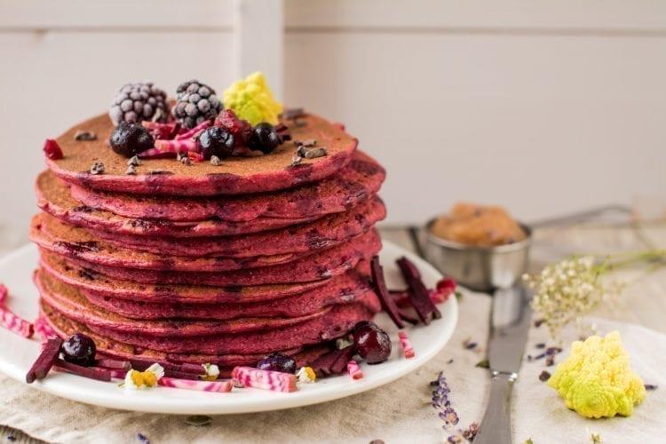 Pancakes, Tofu-Beet, living candida free