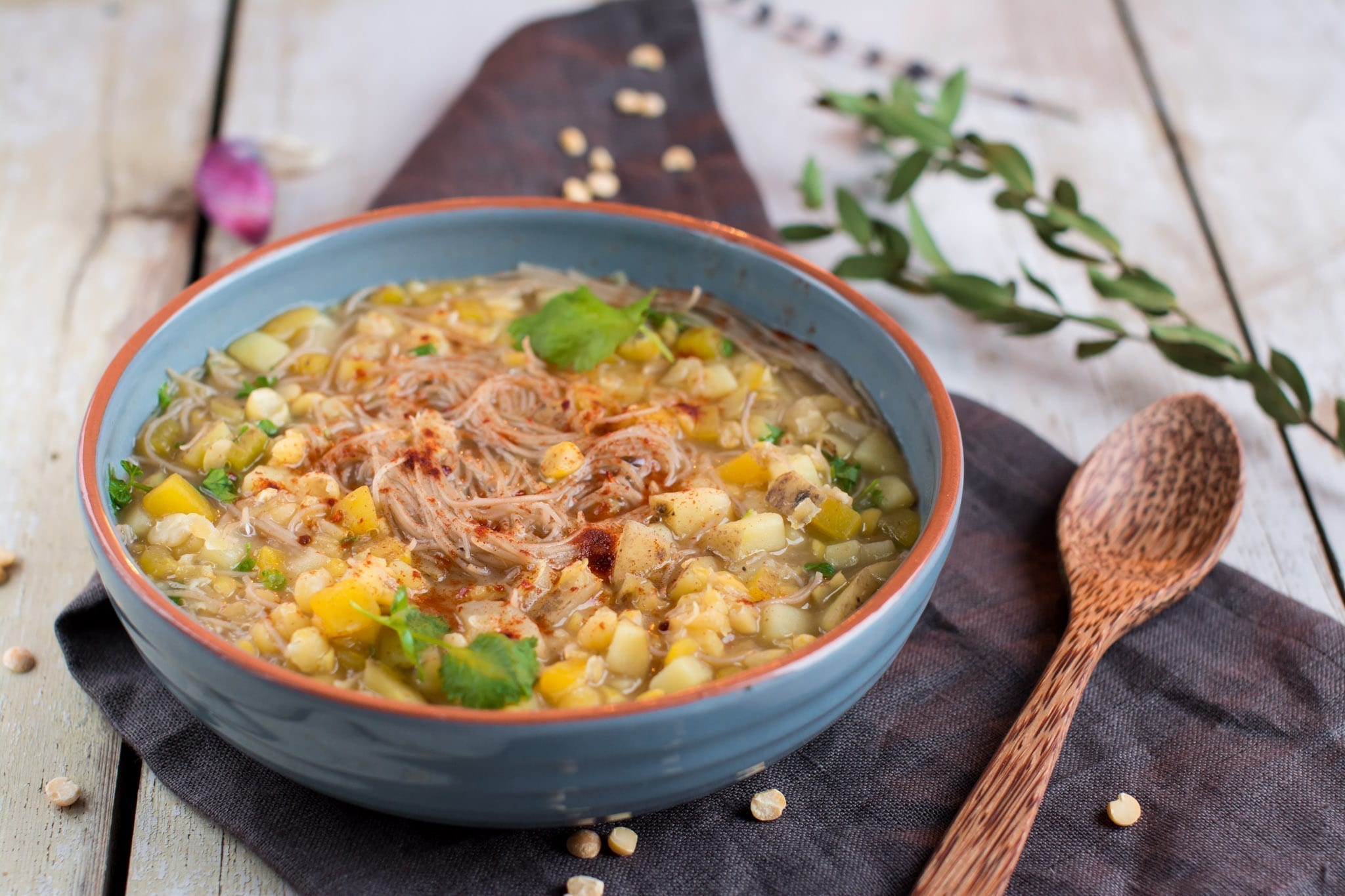 Soup, Split Pea-Rice Noodles