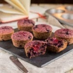 Vegan Blueberry Beet Muffins, Gluten-Free, refined sugar free, oil-free, Candida diet friendly
