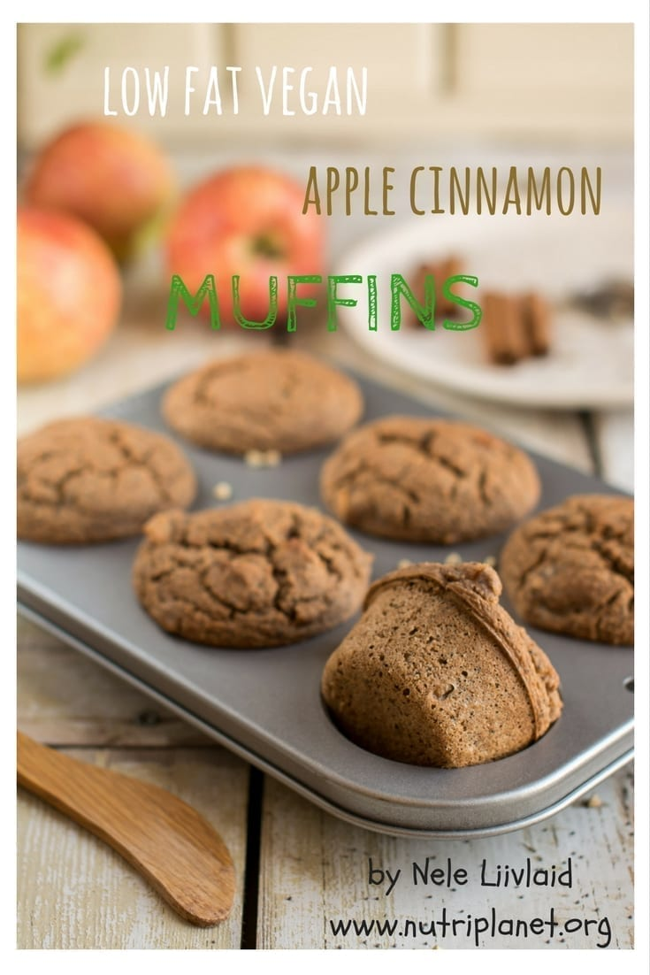 Low Fat Vegan Apple Cinnamon Muffins