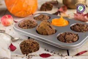 Chocolaty Vegan Pumpkin Muffins Recipe with Zucchini
