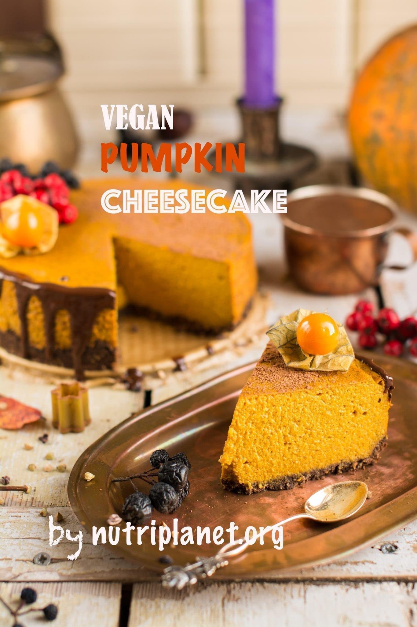 Vegan Pumpkin Cheesecake with Silken Tofu