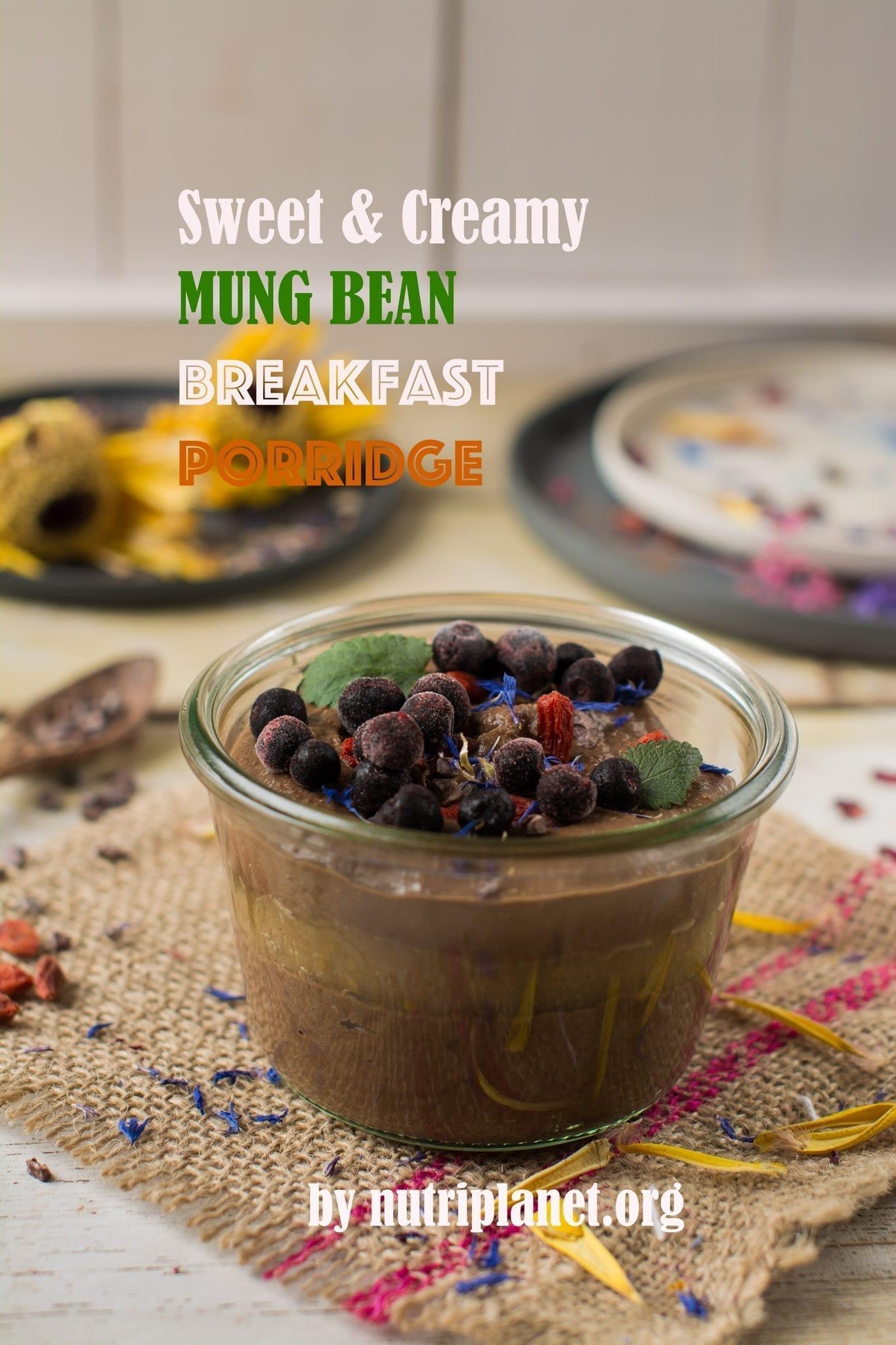 Sweet and Creamy Vegan Mung Bean Breakfast Porridge