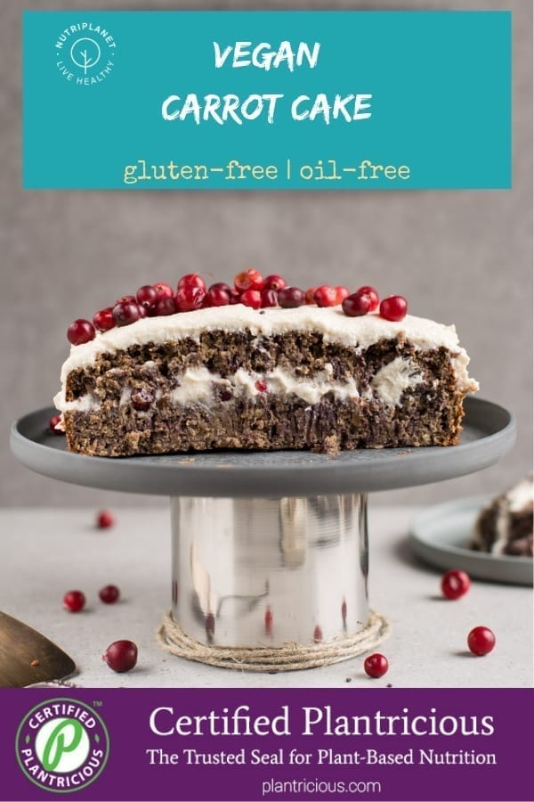 Gluten-Free Vegan Carrot Cake with Cream Cheese Frosting
