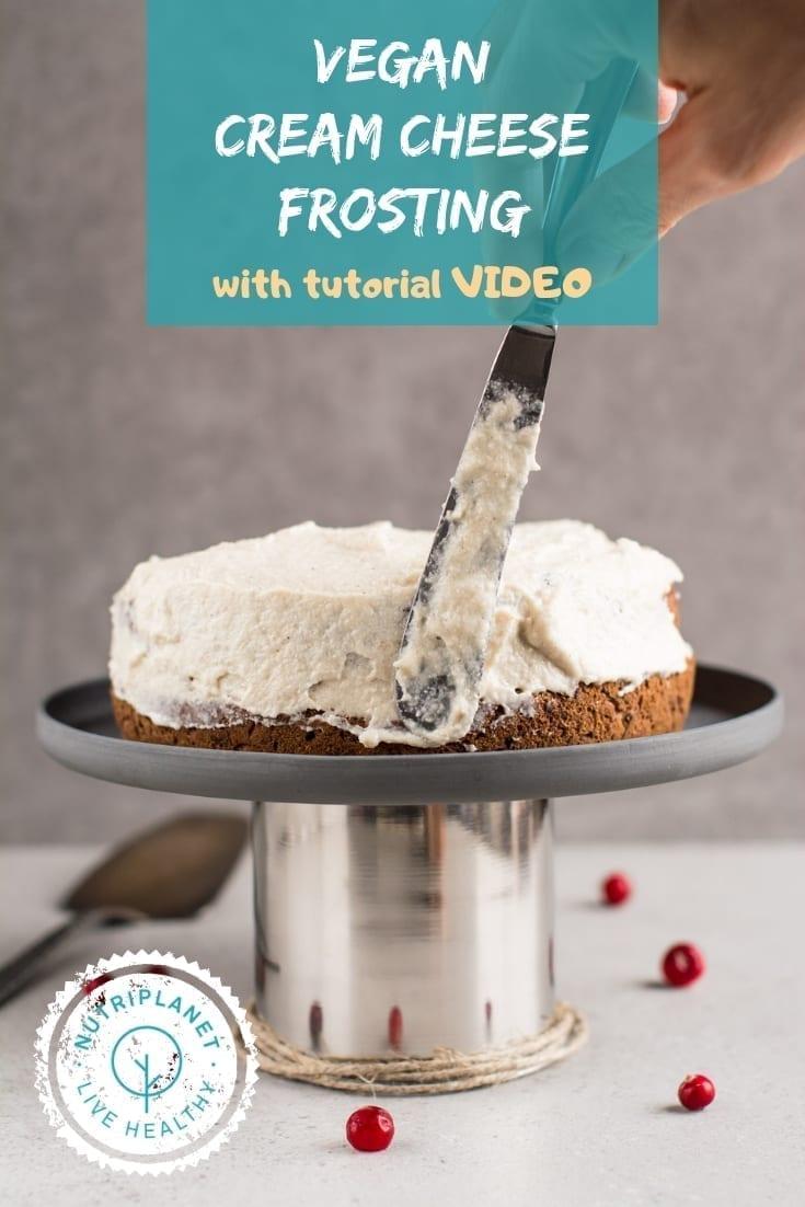 Vegan Carrot Cake with Vegan Cream Cheese Frosting
