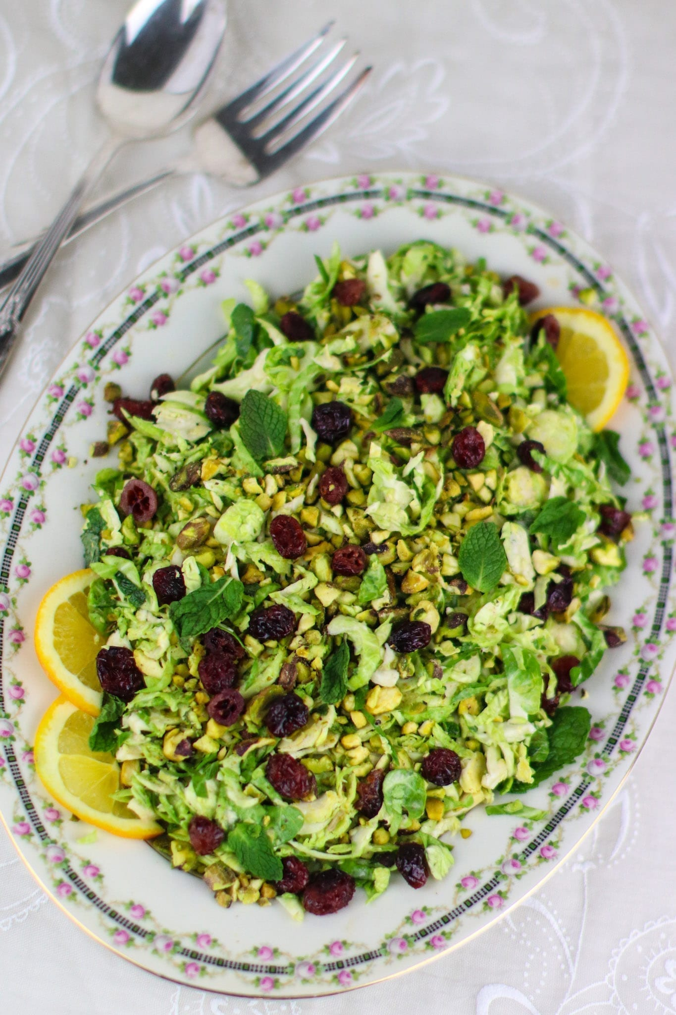 Vegan Holiday Recipes, Shaved Brussels Sprouts Salad