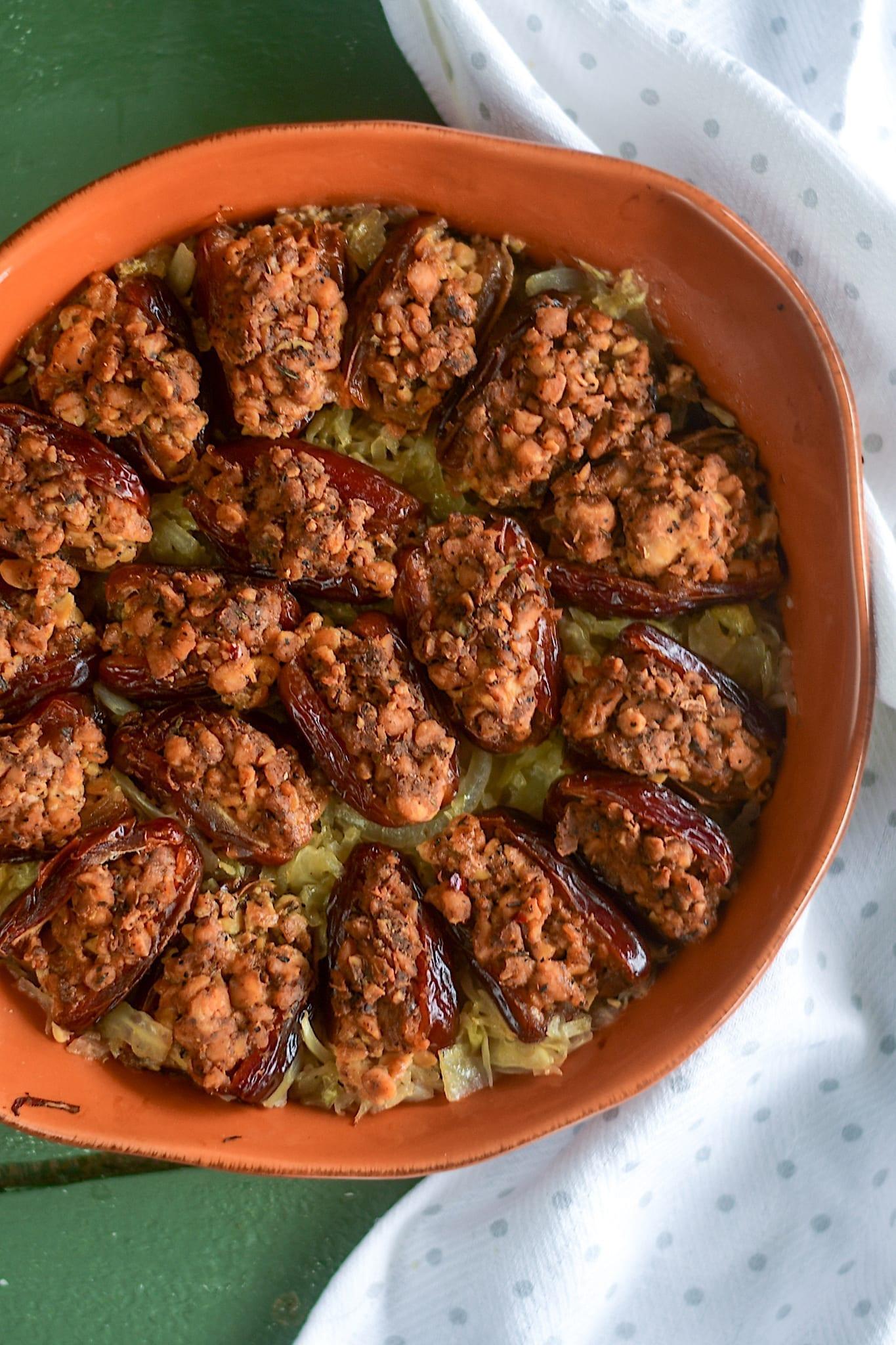 Vegan Holiday Recipes, Sausage Stuffed Dates