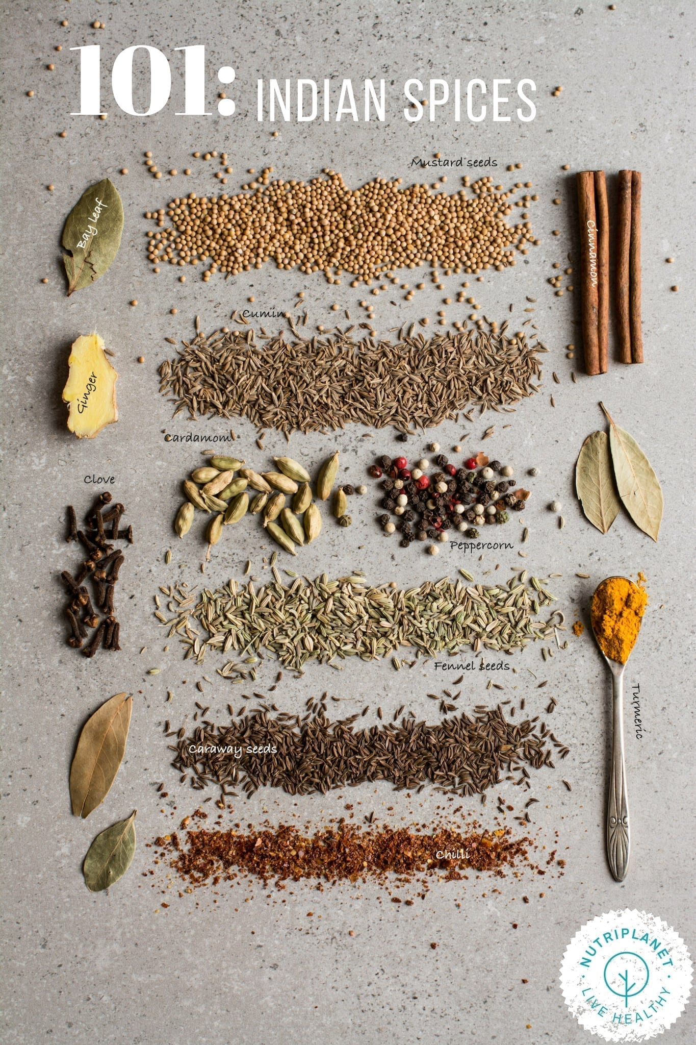Basic Indian Spices Mix and Indian Spices 101