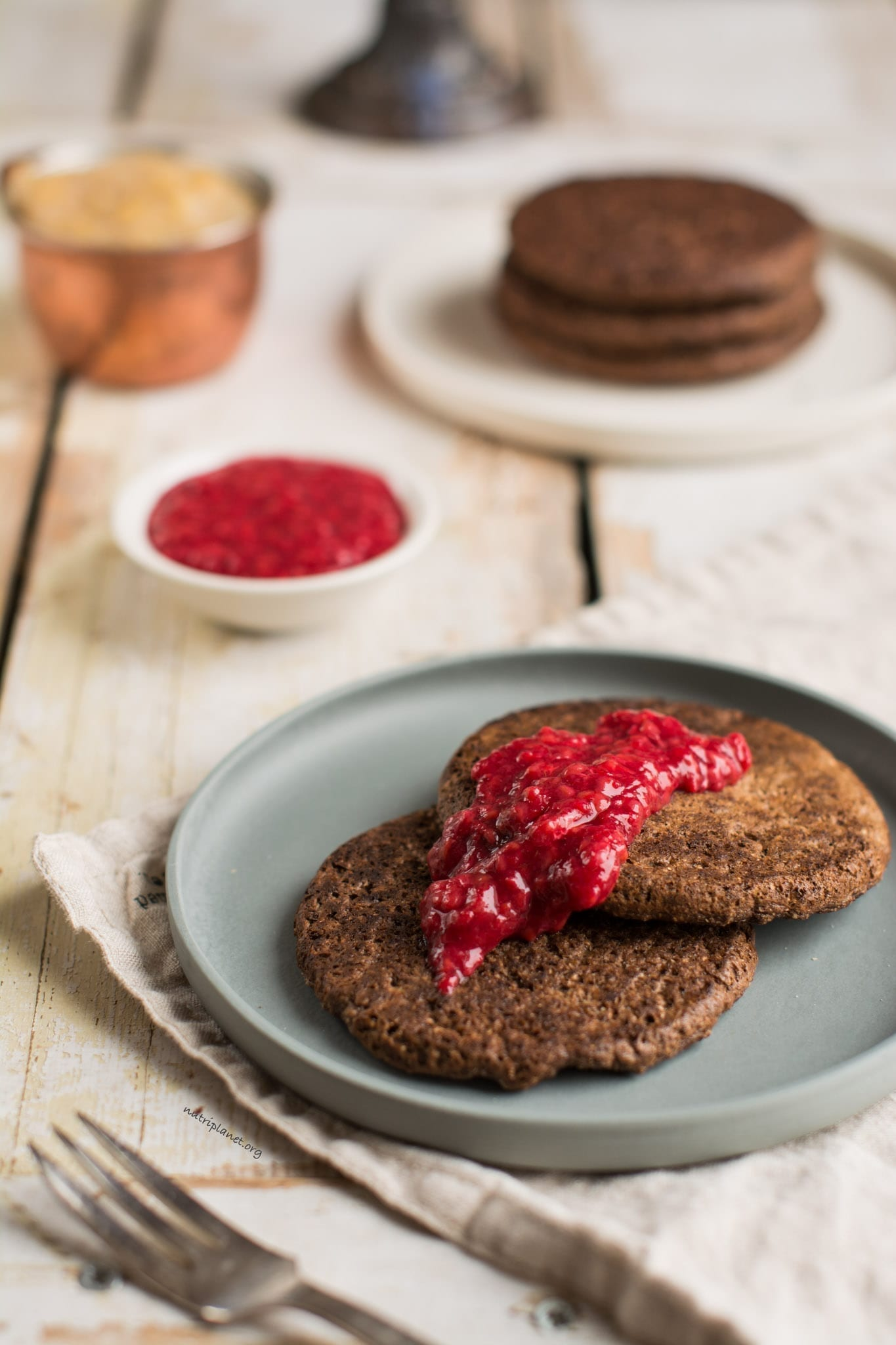 Chocolaty Vegan Gluten-Free Pancakes with Buckwheat Sourdough
