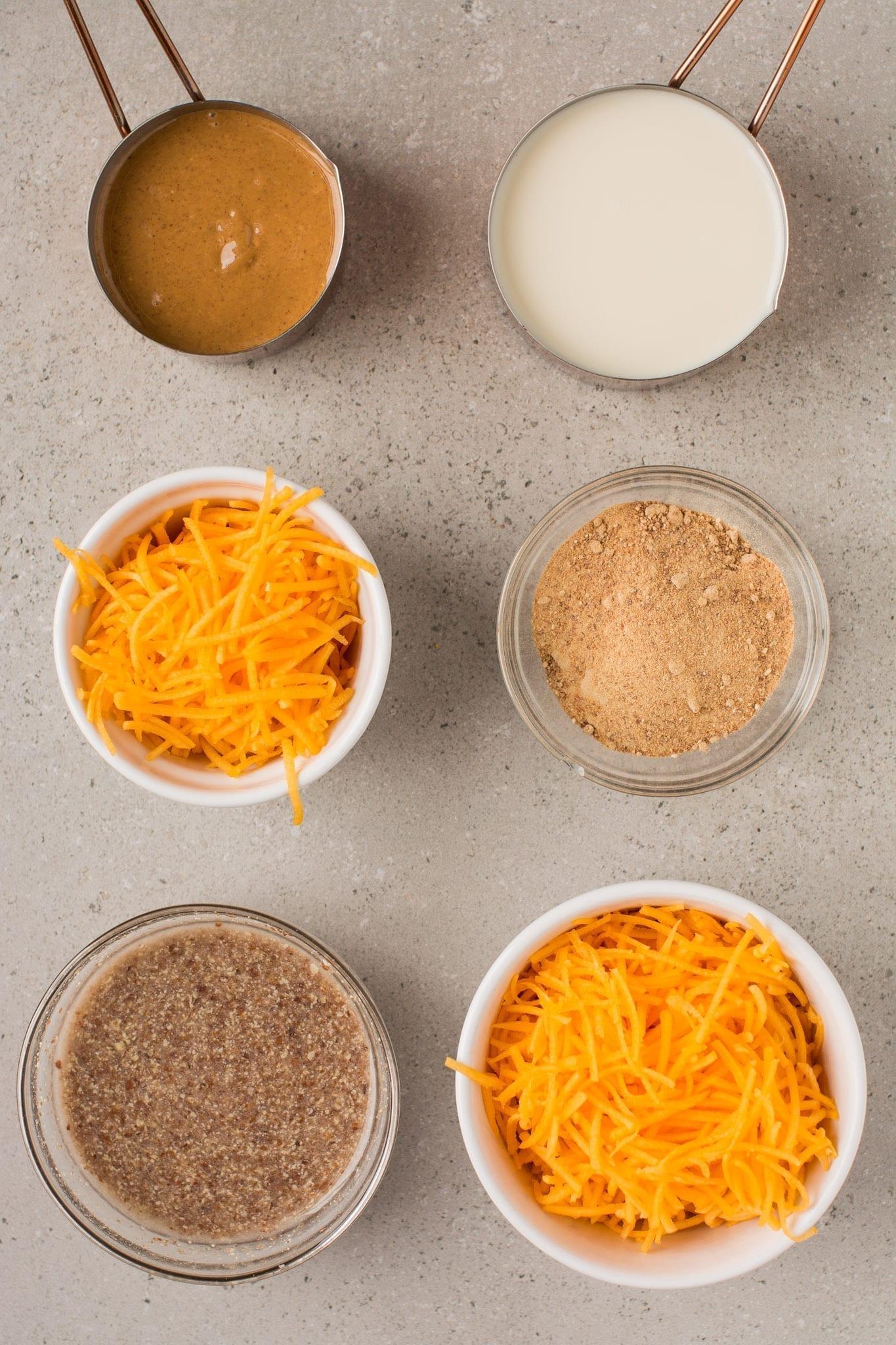 Wet ingredients of gluten free pumpkin bread