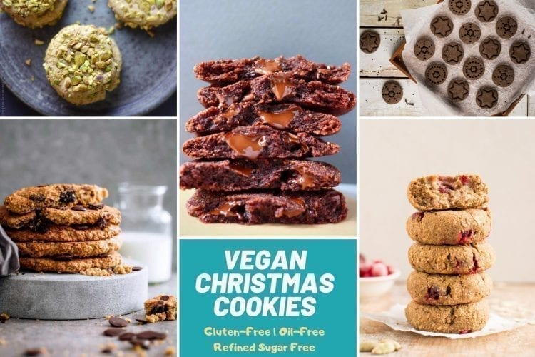 Vegan Christmas Cookies gluten free oil free refined sugar free