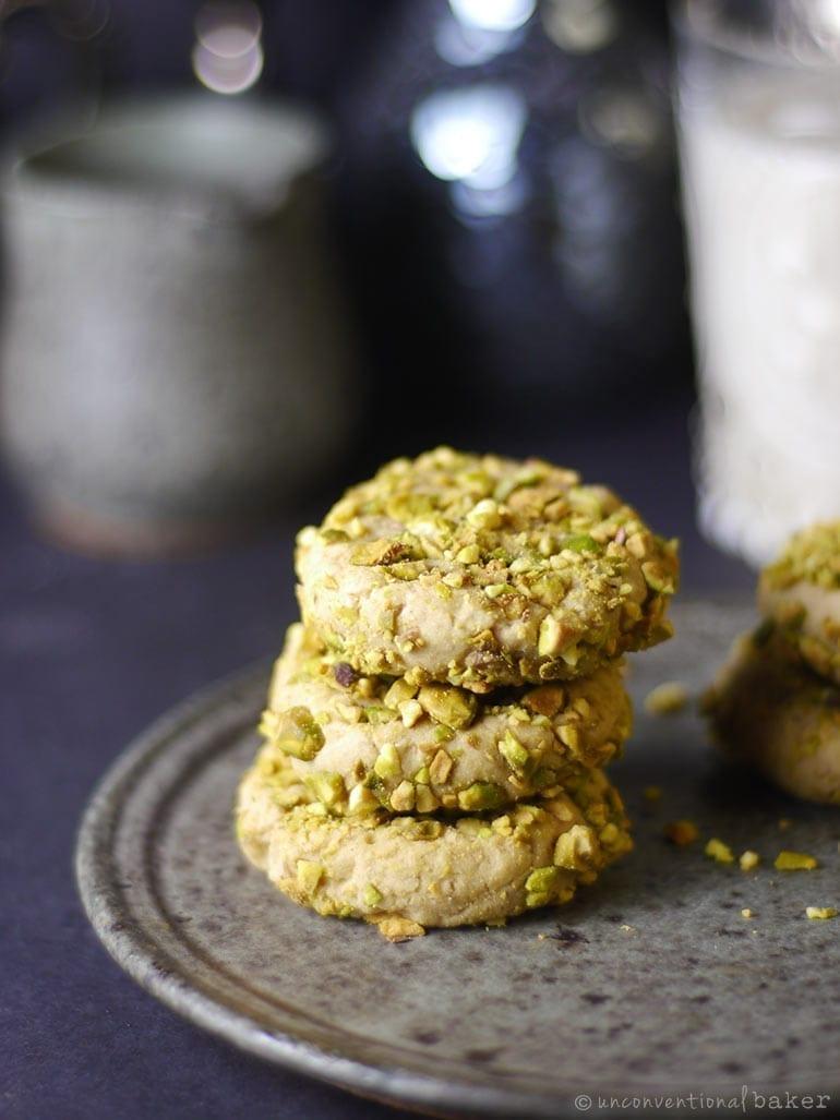 Gluten-free vegan pistachio cookies