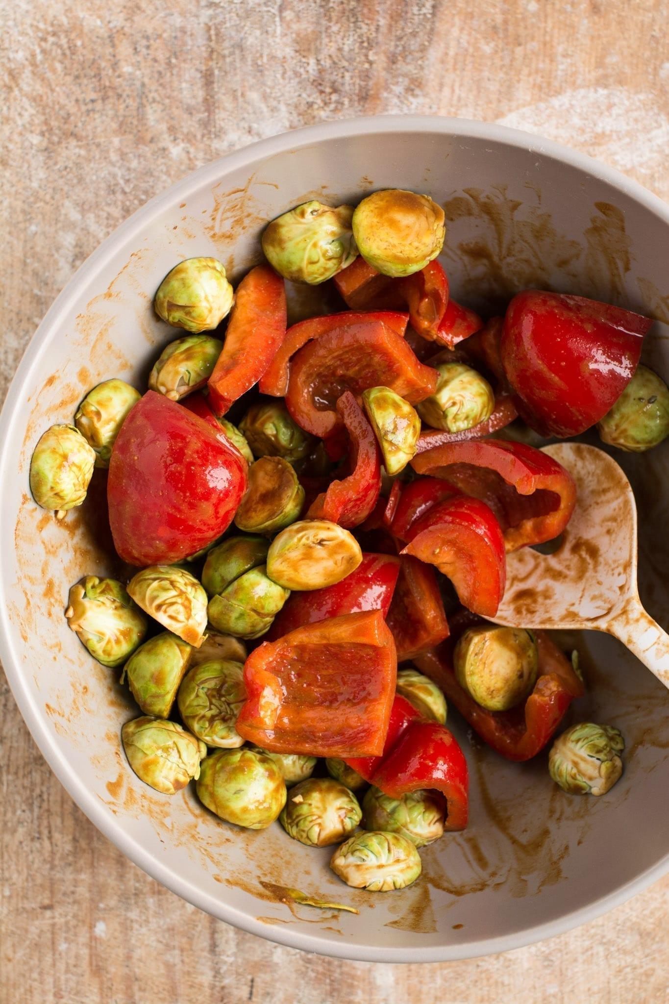 Miso Roasted Vegetables oil free