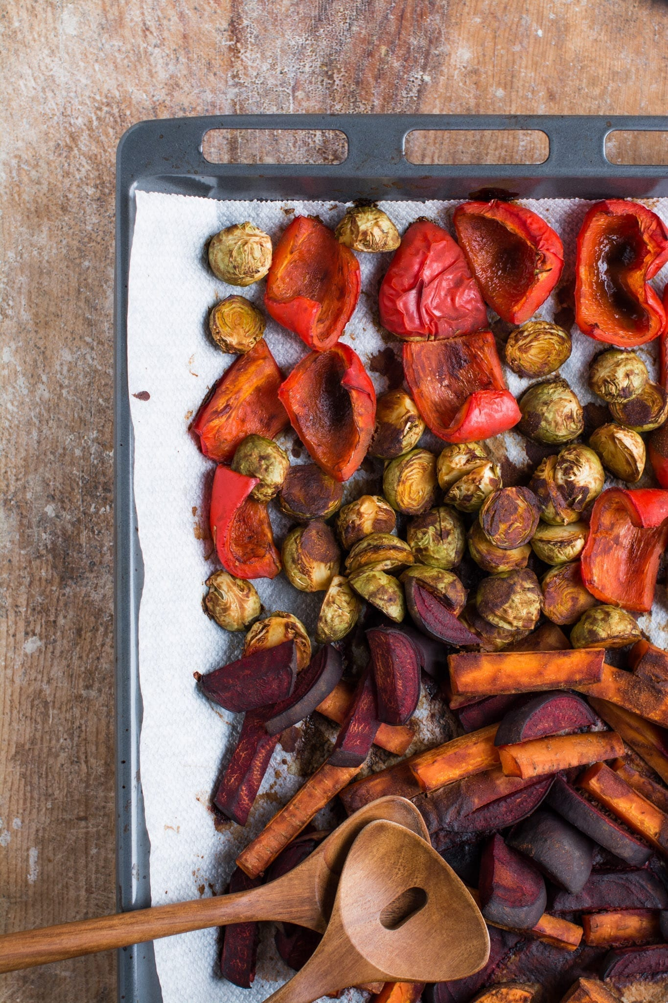 Miso Roasted Vegetables oil-free