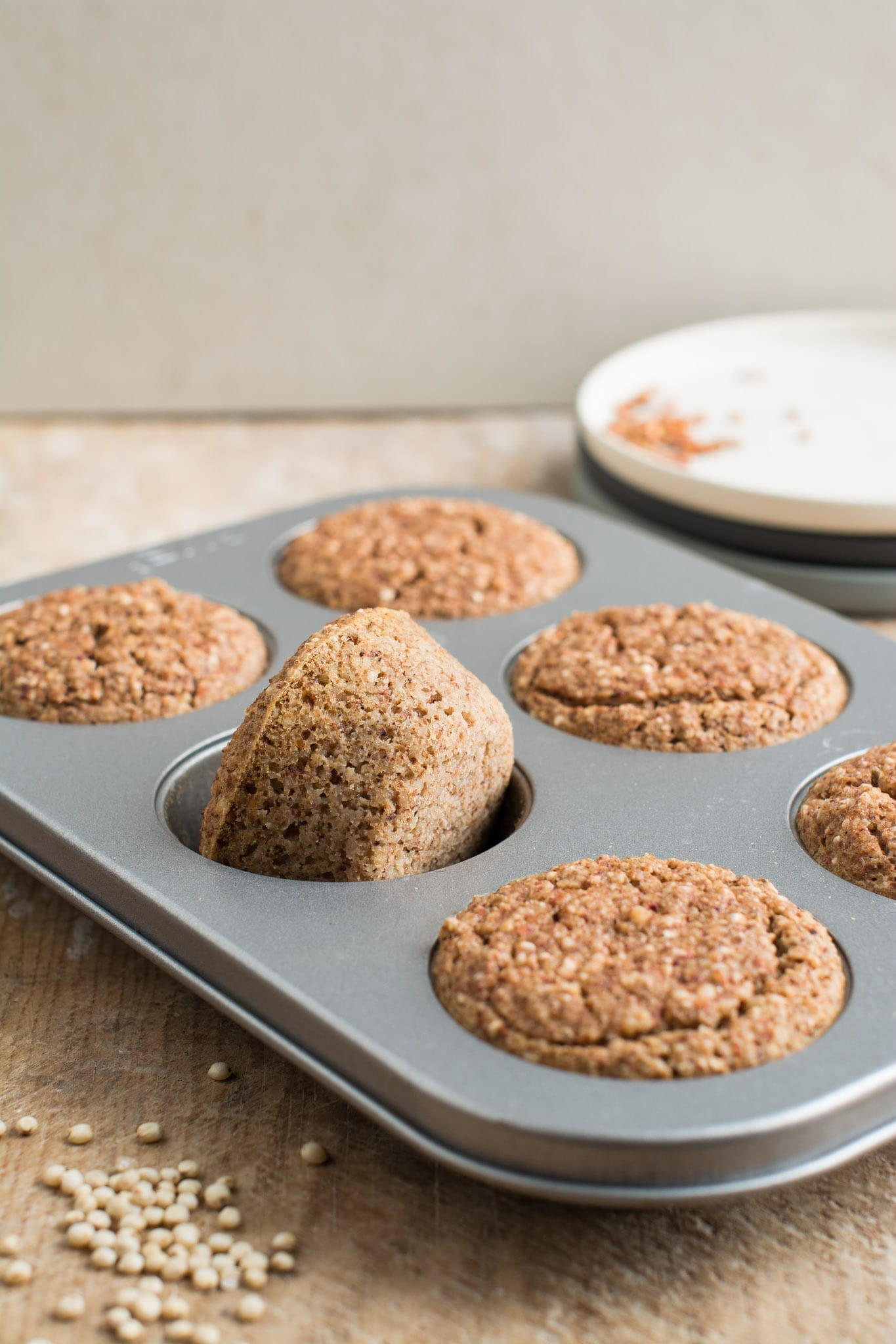 Savoury vegan sorghum muffins that make a perfect healthy breakfast or snack requiring only 5 ingredients.