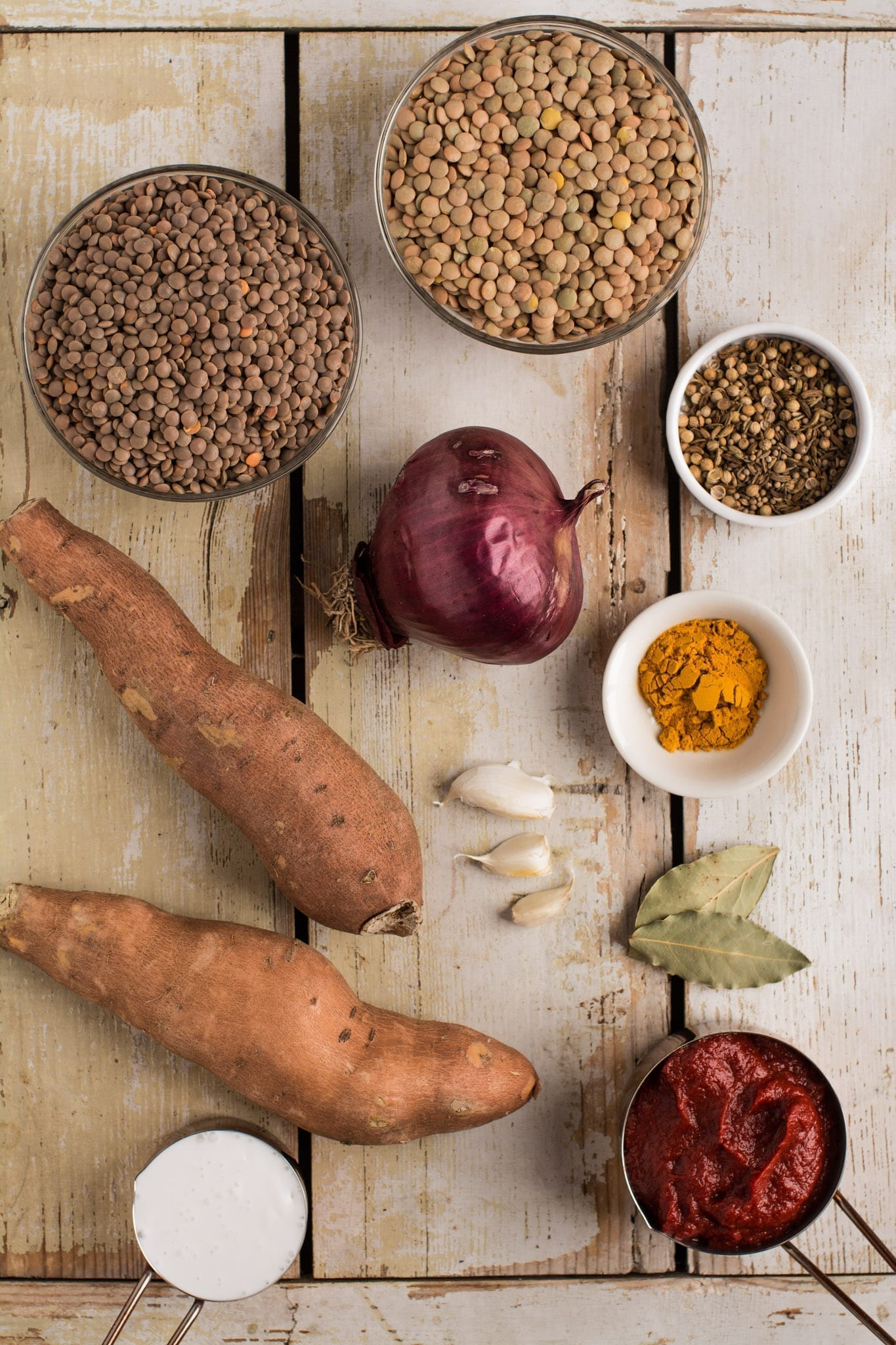 Sweet Potato Lentil Stew Ingredients