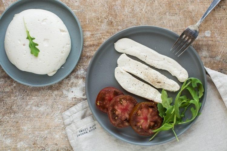 Vegan Mozzarella Cheese Recipe [Cashew Based]