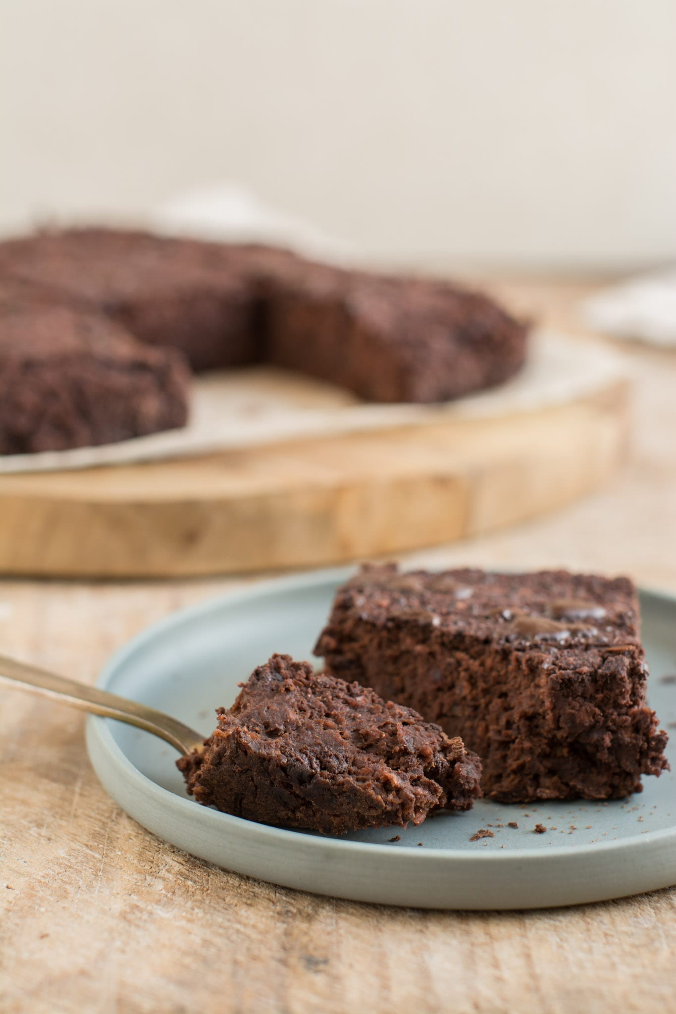 Soft and fudgy whole food plant-based chocolate beet brownies that are gluten-free and exceptionally easy to make. You'll only need a food processor and 10 minutes of your time.