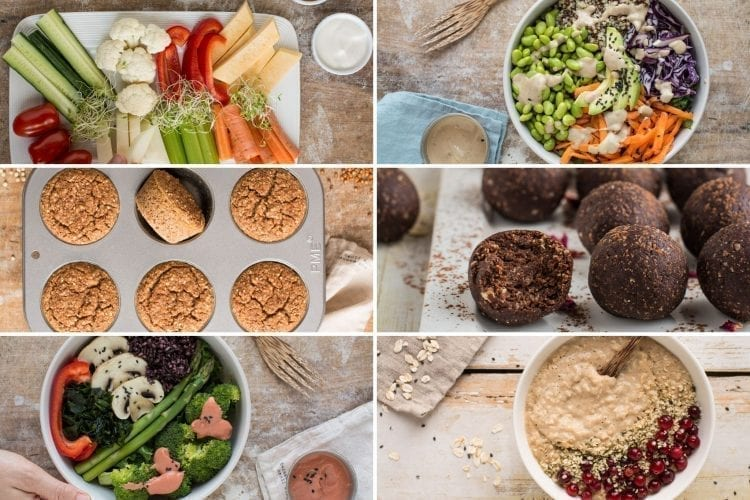 Delicious and satiating vegan Candida cleanse recipes: breakfast, lunch, dinner, snacks, and desserts.